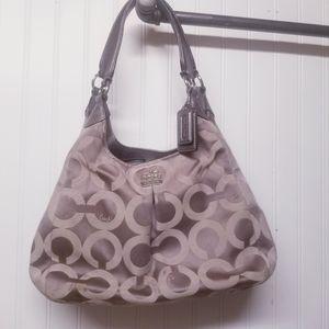 Coach Madison Op Art Sateen Maggie Shoulder Bag